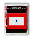 Blue Star Military Service Flag Fleece Blanket - 50