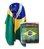 Brazil Flag Fleece Blanket - 50