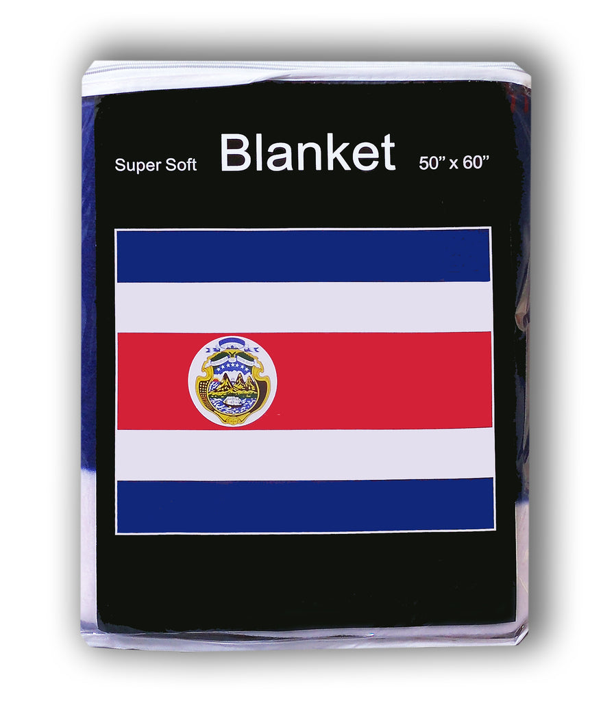 Costa Rica Flag Fleece Blanket - 50