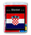 Croatia Flag Fleece Blanket - 50
