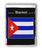 Cuba Flag Fleece Blanket - 50