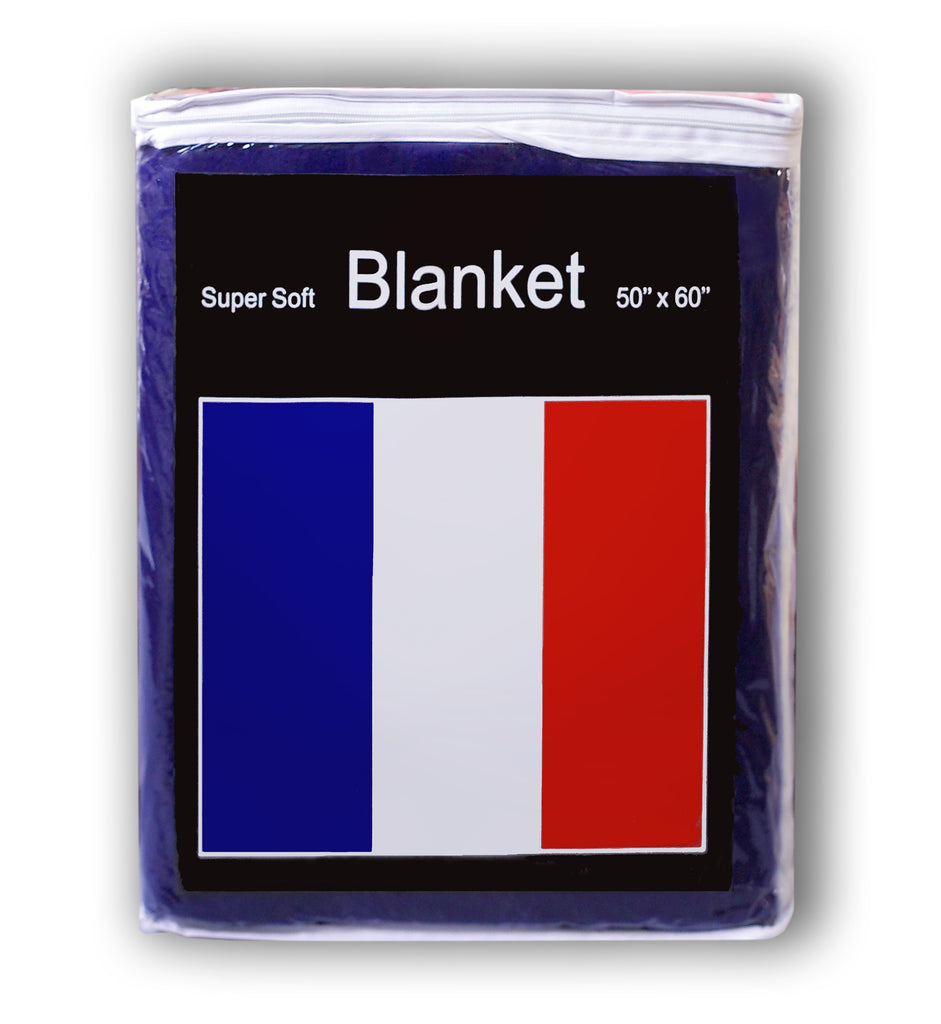 France Flag Fleece Blanket - 50