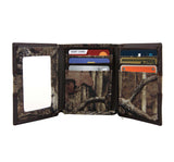Georgia Tech Yellow Jackets Mossy Oak Camo & Leather Trifold Wallet - NCAA