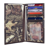 Auburn Tigers Mossy Oak Camo & Leather Roper Wallet - NCAA
