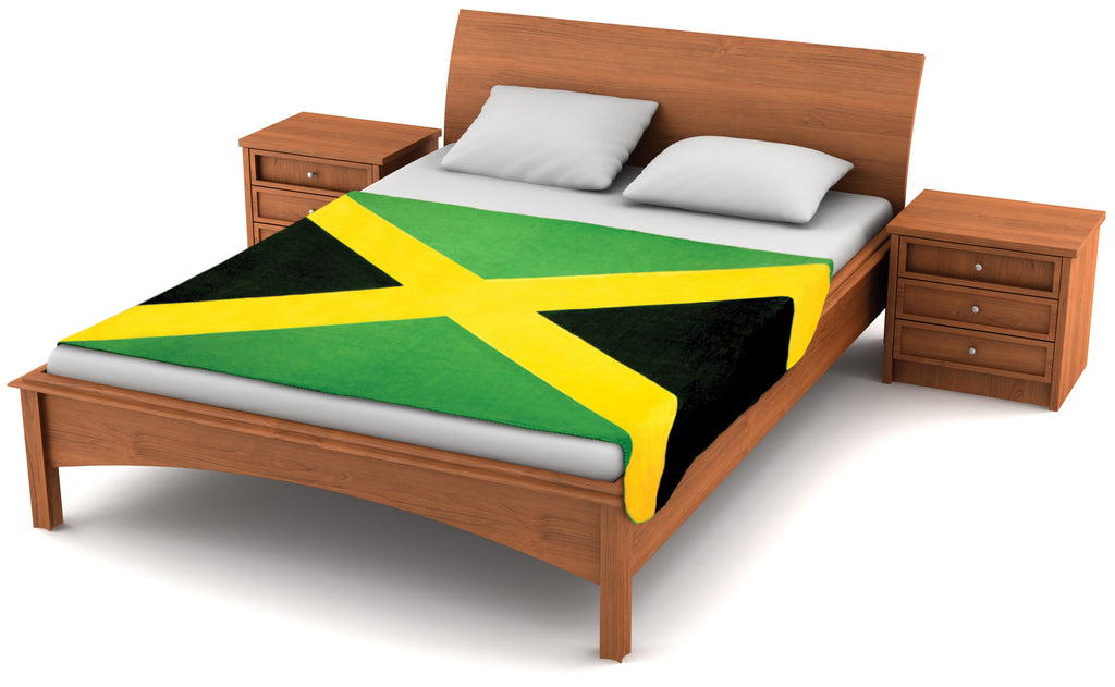 Jamaica Flag Fleece Blanket 80