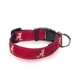 Alabama Crimson Tide Ribbon Dog Collar - NCAA