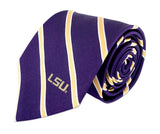 LSU Tigers Thin Stripe Necktie - NCAA