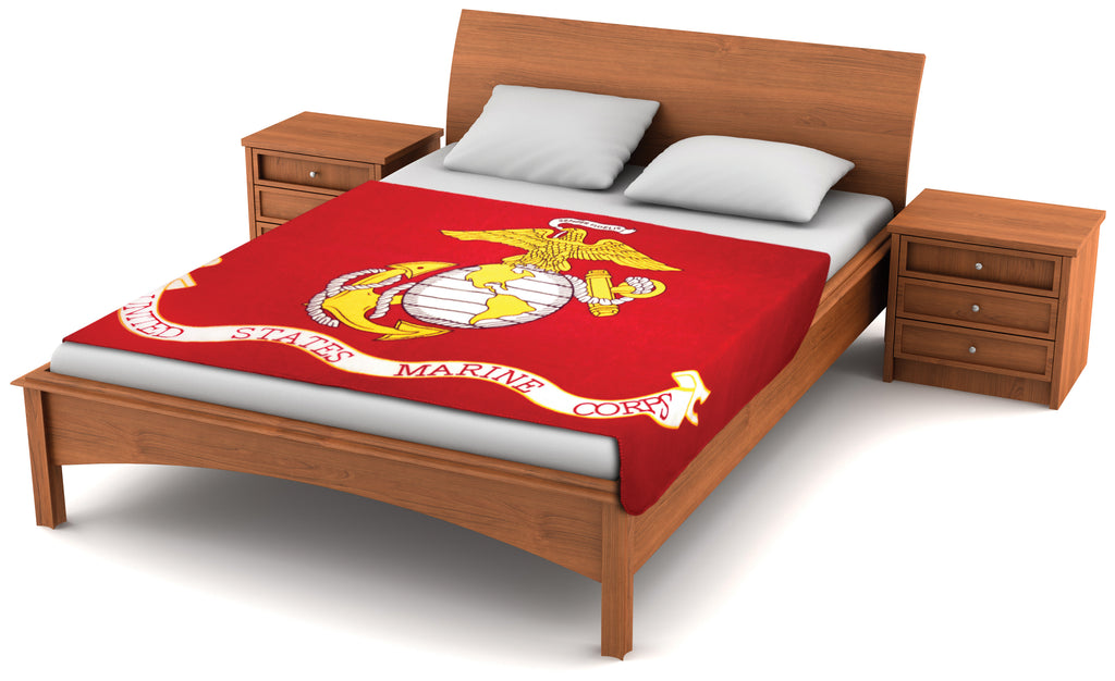 U.S. Marine Corps Flag Oversized Fleece Blanket 80