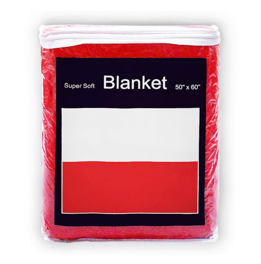 Poland Flag Fleece Blanket - 50