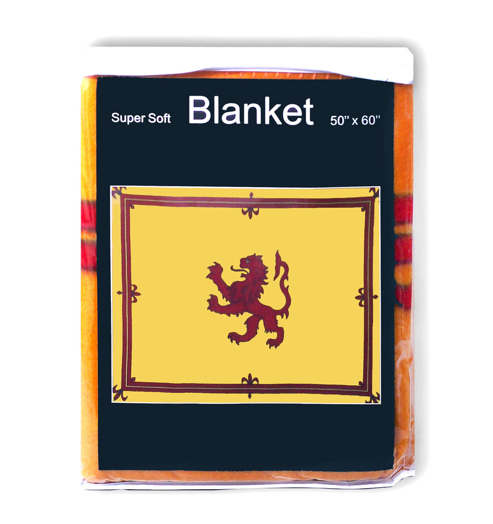 Lion Rampant of Scotland Flag Fleece Blanket - 50