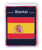 Spain Flag Fleece Blanket - 50