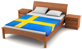 Sweden Flag Fleece Blanket 80