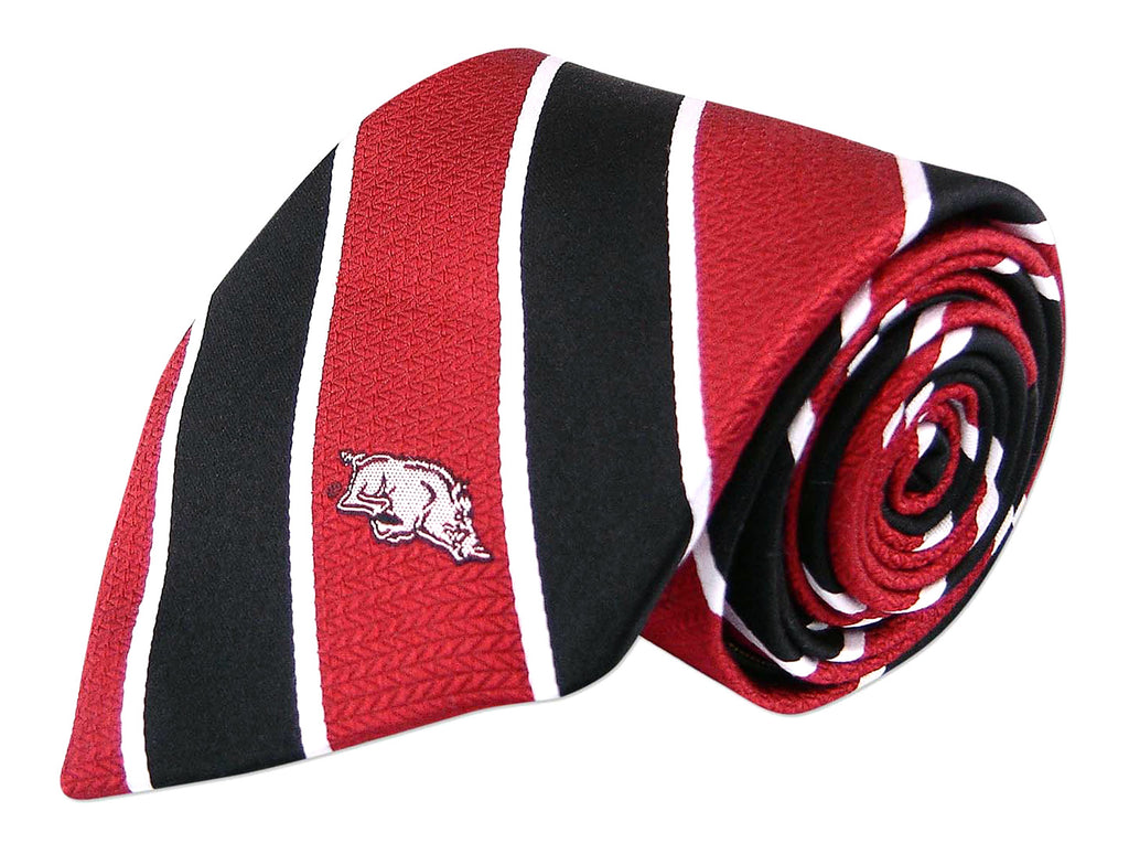 Arkansas Razorbacks Repp Stripe Necktie - NCAA