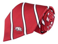 Arkansas Razorbacks Thin Stripe Necktie - NCAA