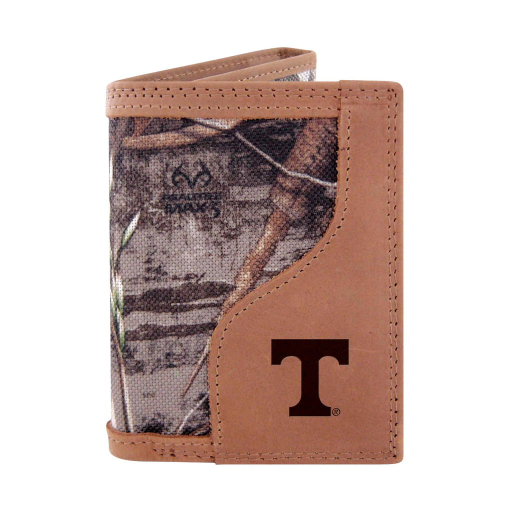 Tennessee Volunteers Trifold Realtree Max-5 Camo & Leather Wallet - NCAA