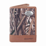 Virginia Cavaliers Trifold Realtree Max-5 Camo & Leather Wallet - NCAA