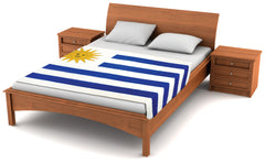 "Uruguay Flag Fleece Blanket 80""x50"" - Fuzzy Flags™"