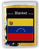Venezuela Flag Fleece Blanket - 50