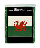 Wales Flag Fleece Blanket - 50