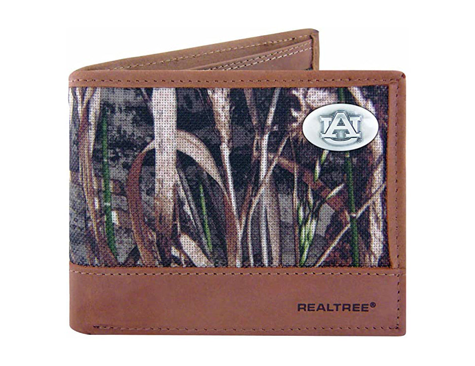 Auburn Tigers Realtree Max-5 Camo & Leather Bifold Concho Wallet - NCAA