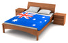 "Australia Flag Fleece Blanket 80""x50"" - Fuzzy Flags™"