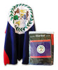 Belize Flag Fleece Blanket - 50