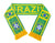 Brazil National Team Soccer Scarf - FIFA