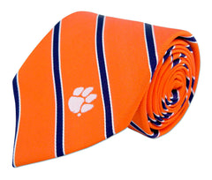 Clemson Tigers Thin Stripe Necktie - NCAA