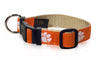 Clemson Tigers Ribbon Dog Collar - NCAA