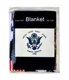 U.S. Coast Guard Flag Fleece Blanket - 50