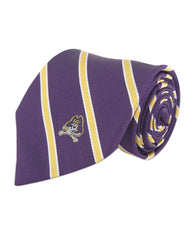 East Carolina Pirates Thin Stripe Necktie - NCAA
