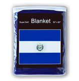 El Salvador Flag Fleece Blanket - 50