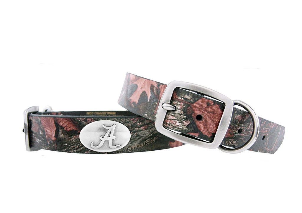 Alabama Crimson Tide Fence Row Camouflage Leather Concho Dog Collar - NCAA