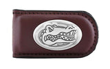 Florida Gators Smooth Leather Magnet Concho Money Clip  - NCAA