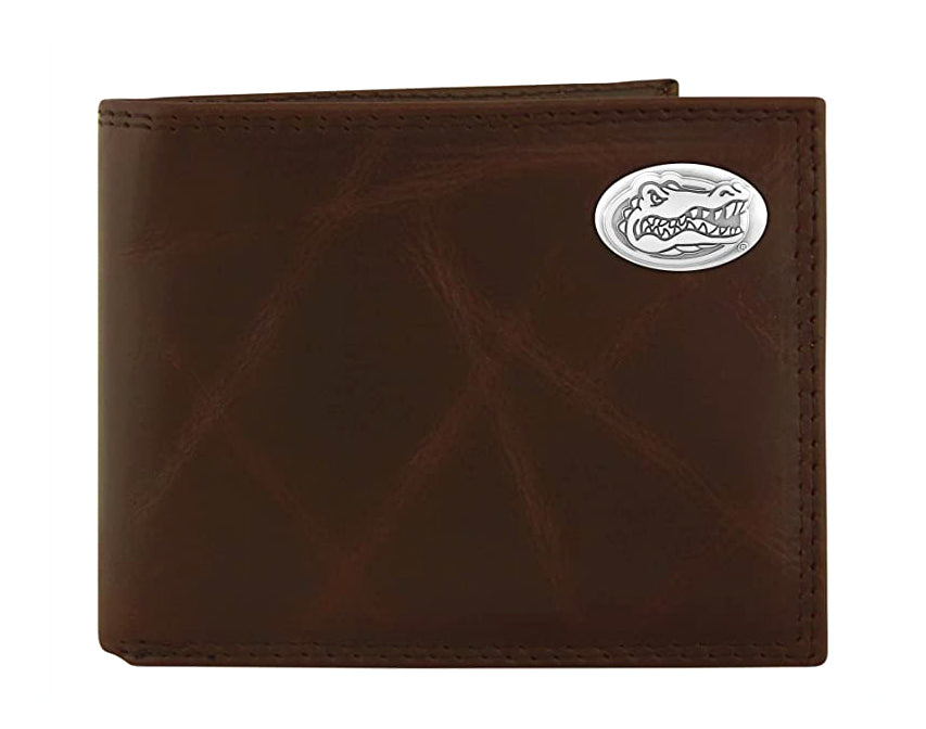 Florida Gators Wrinkle Leather Bifold Concho Wallet - NCAA