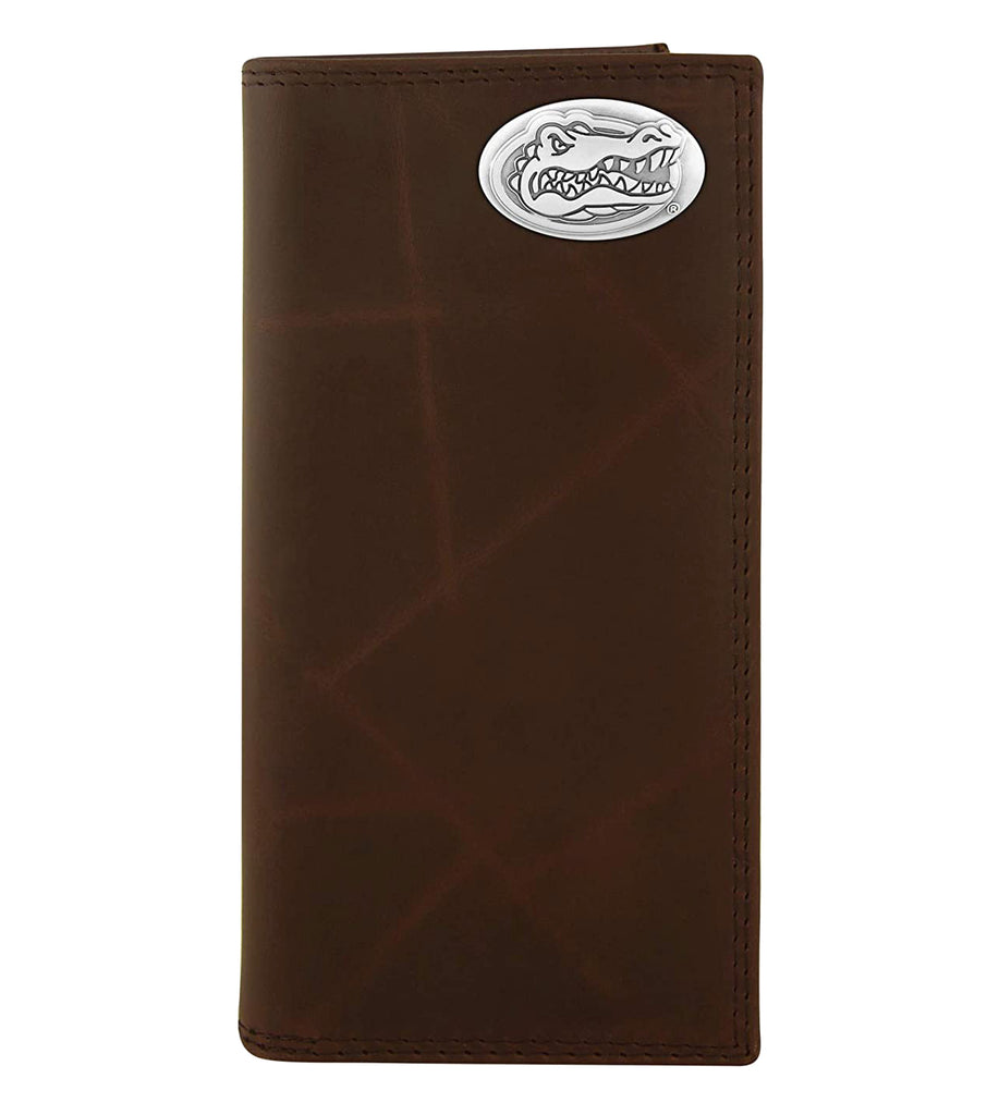 Florida Gators Wrinkle Leather Roper Concho Wallet - NCAA