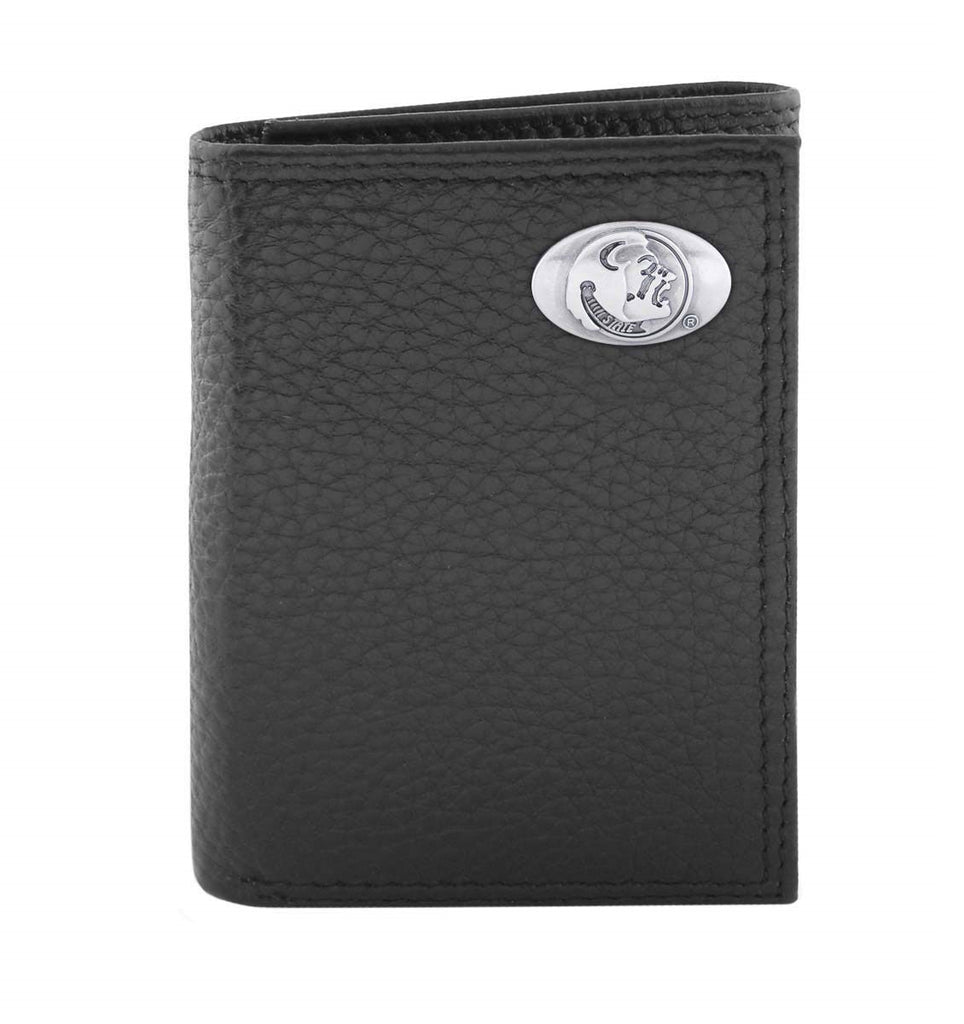 Florida State Seminoles Pebble Grain Leather Trifold Concho Wallet - NCAA