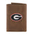Georgia Bulldogs Crazy Horse Leather Trifold Embroidered Wallet - NCAA