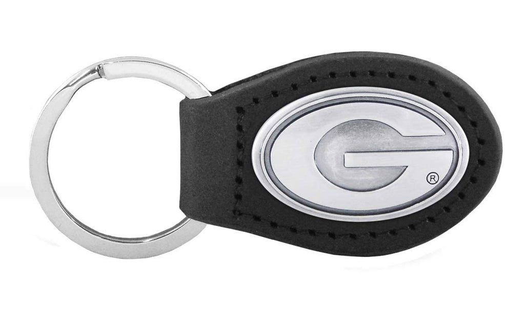 Georgia Bulldogs Leather Concho Key Chain - NCAA