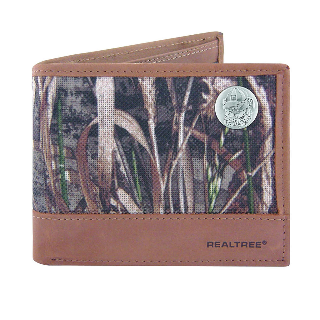 Georgia Bulldogs Realtree Max-5 Camo & Leather Bifold Concho Wallet - NCAA
