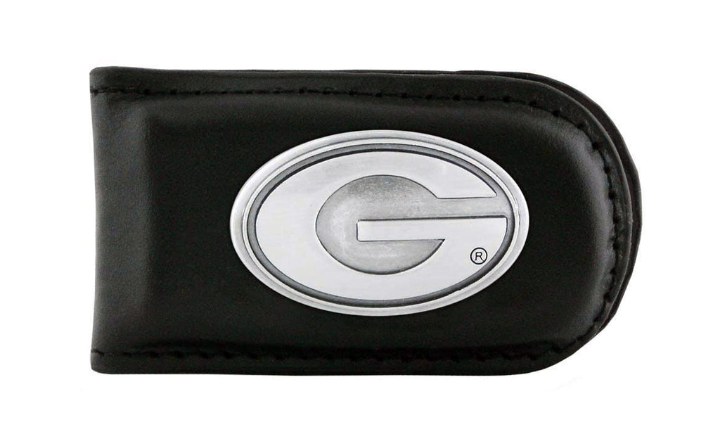 Georgia Bulldogs Leather Magnet Concho Money Clip  - NCAA