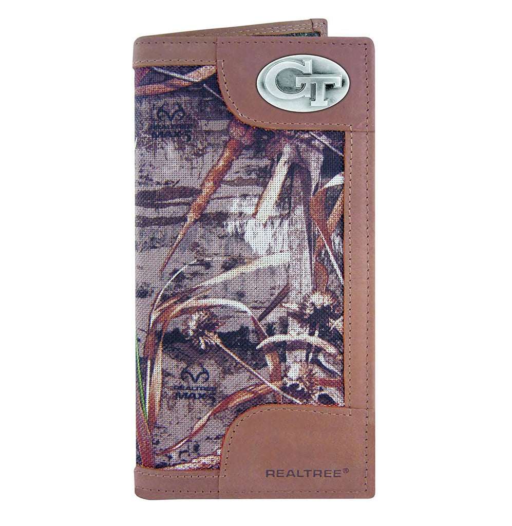 Georgia Tech Yellow Jackets Realtree Max-5 Camo Roper Wallet - NCAA