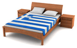 Greece Flag Fleece Blanket 80