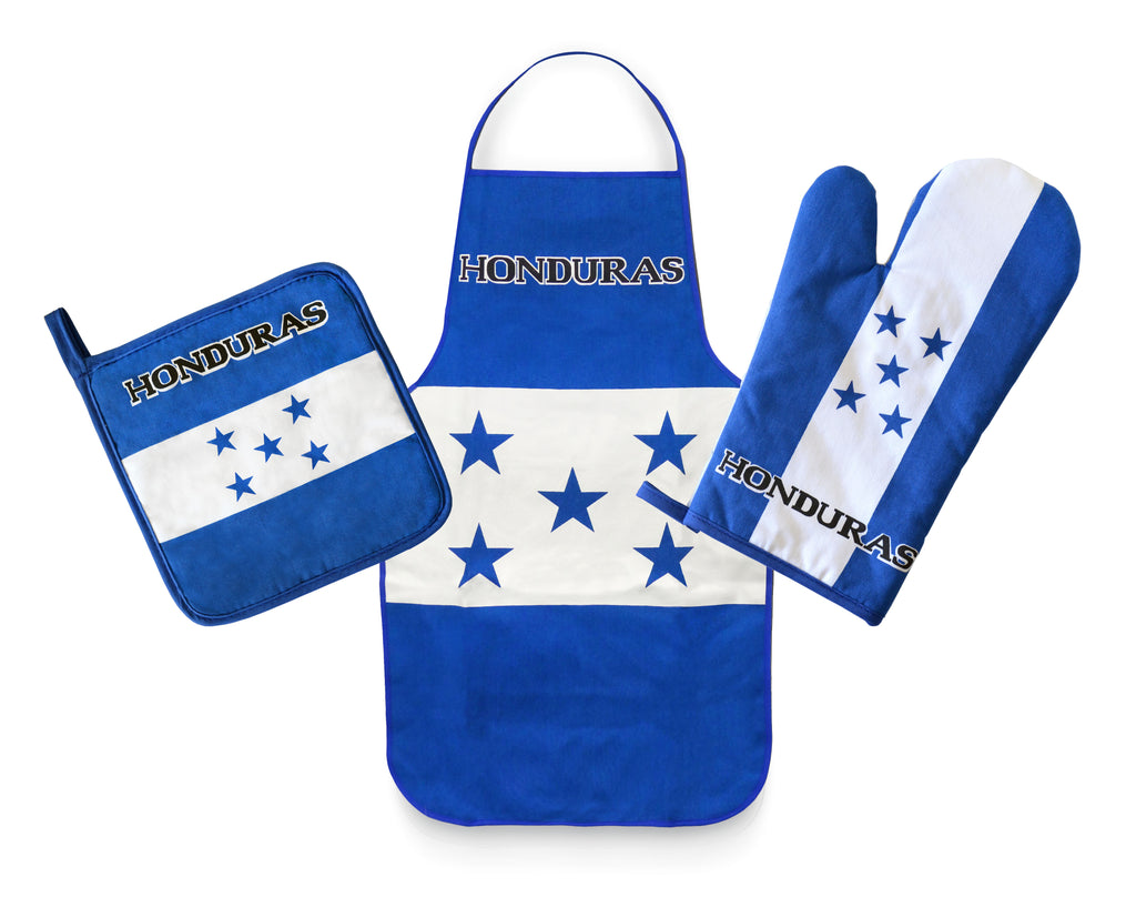 Honduras Flag Kitchen & BBQ Set