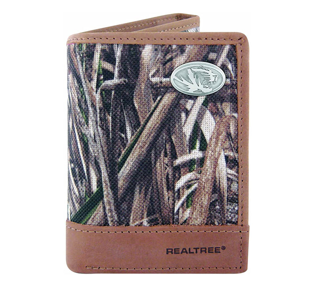 Missouri Tigers Trifold Realtree Max-5 Camo & Leather Wallet - NCAA
