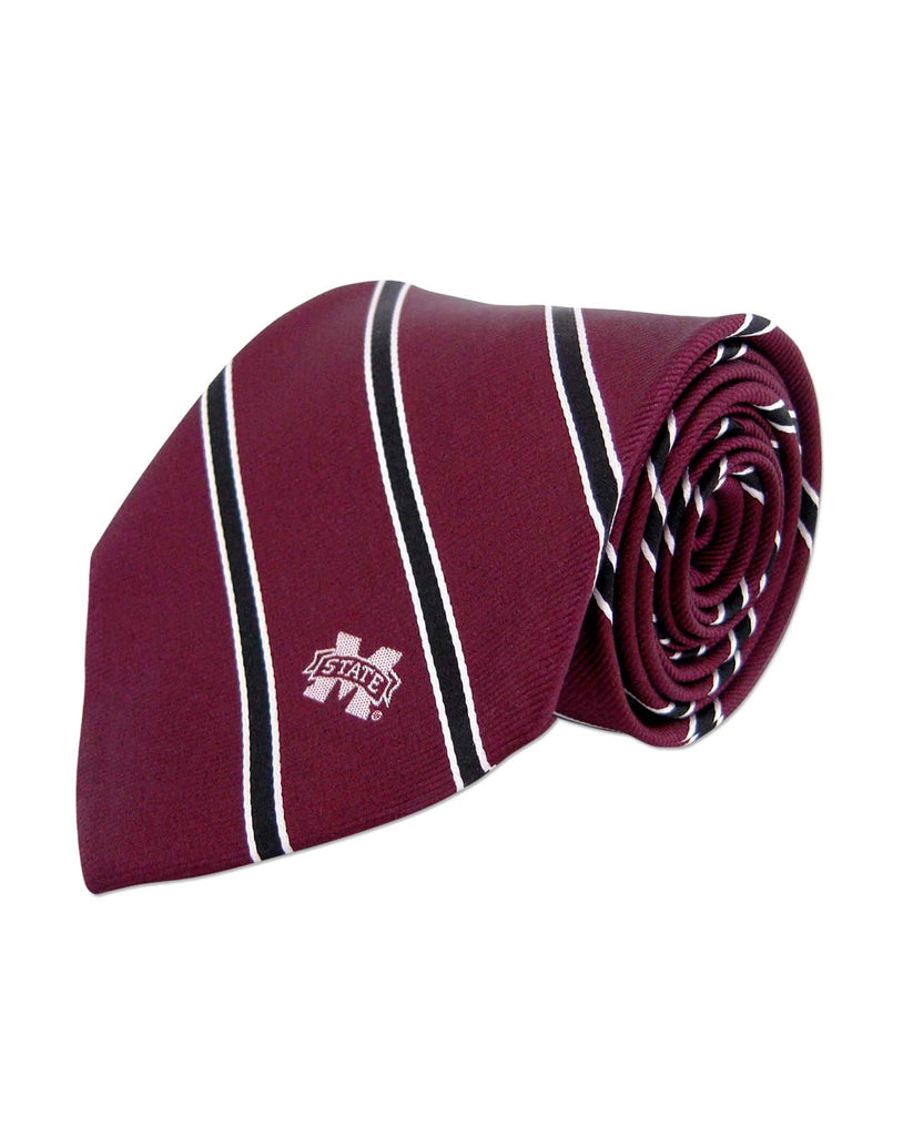 Mississippi State Bulldogs Thin Stripe Necktie - NCAA