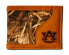 Auburn Tigers Bifold Realtree Max-5 Camo & Leather Wallet - NCAA