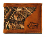 Florida Gators Bifold Realtree Max-5 Camo & Leather Wallet - NCAA