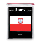 Poland Coat of Arms Flag Fleece Blanket - 50