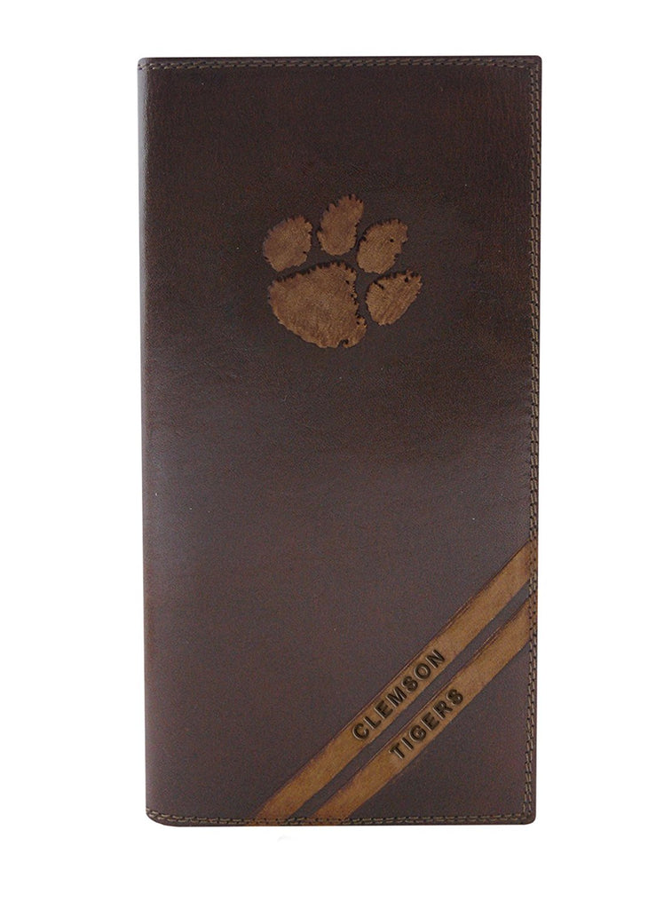 Clemson Tigers Roper Debossed Leather Wallet - NCAA